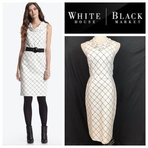 White House Black Market Windowpane Sheath Dress